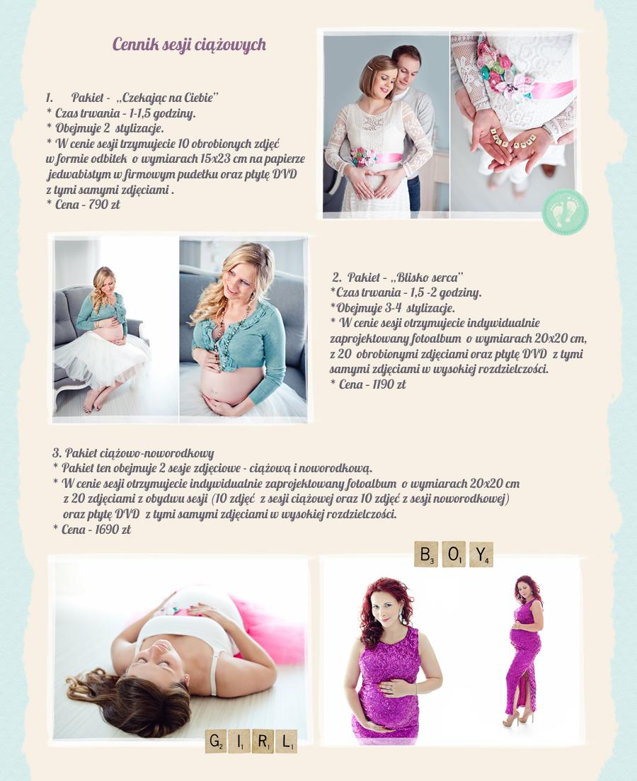 cennik sesja ciążowa